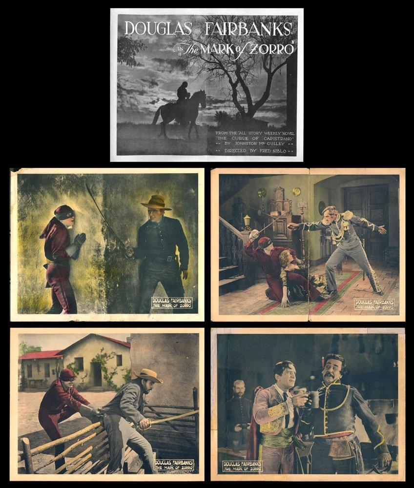 The Mask of Zorro Lobby Cards, Circa 1920