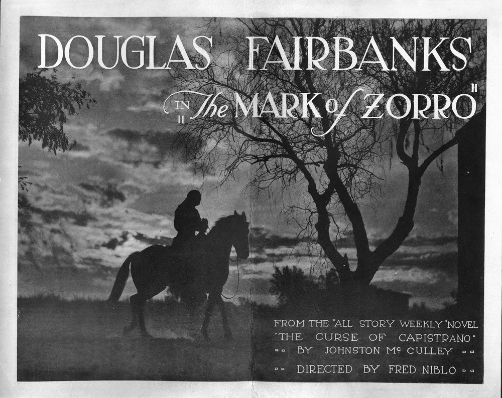 The Mask of Zorro Lobby Cards, Circa 1920 - 2