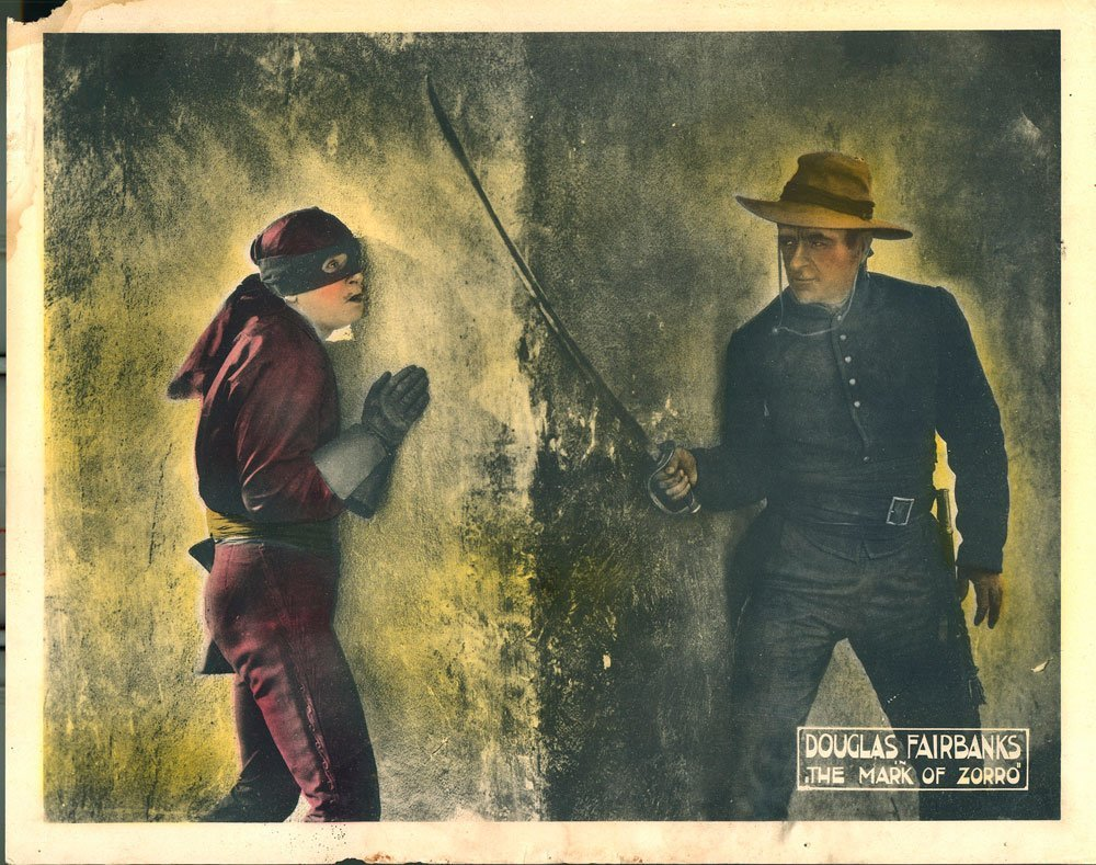 The Mask of Zorro Lobby Cards, Circa 1920 - 3