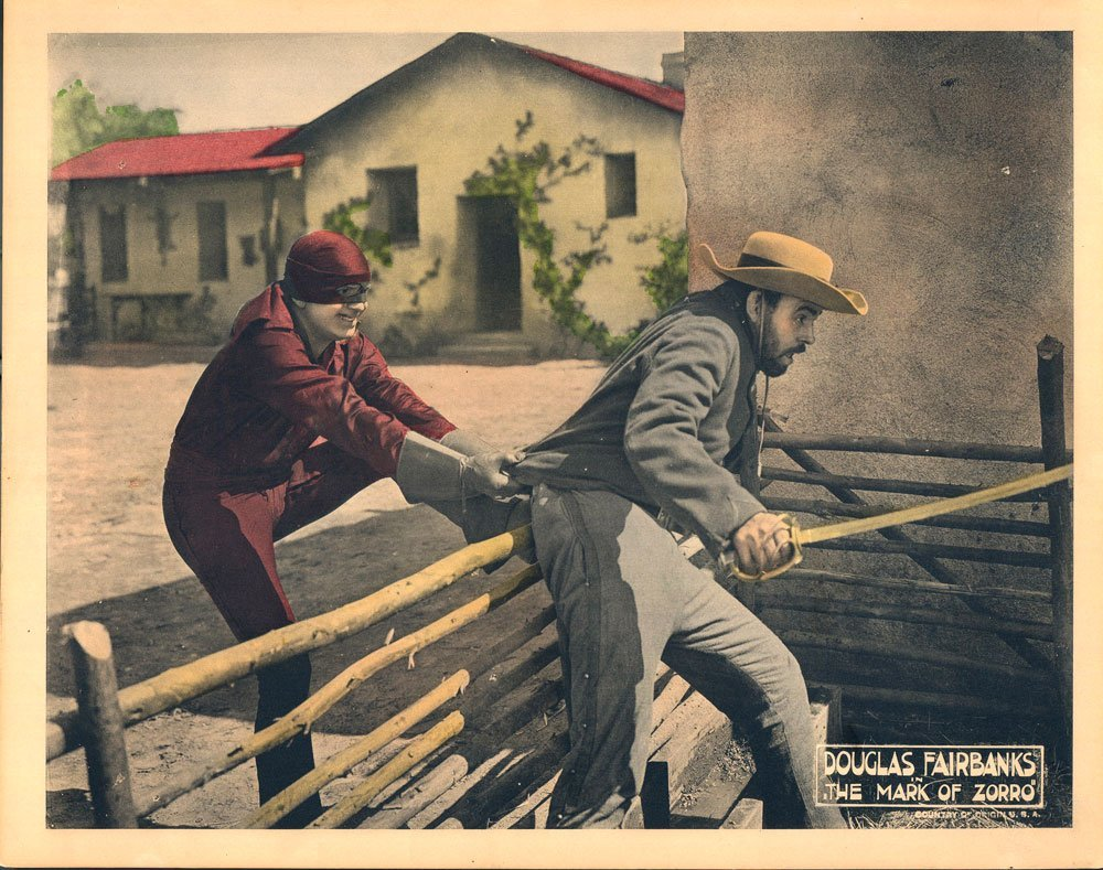 The Mask of Zorro Lobby Cards, Circa 1920 - 4
