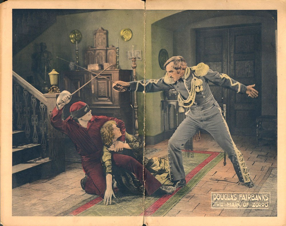 The Mask of Zorro Lobby Cards, Circa 1920 - 5