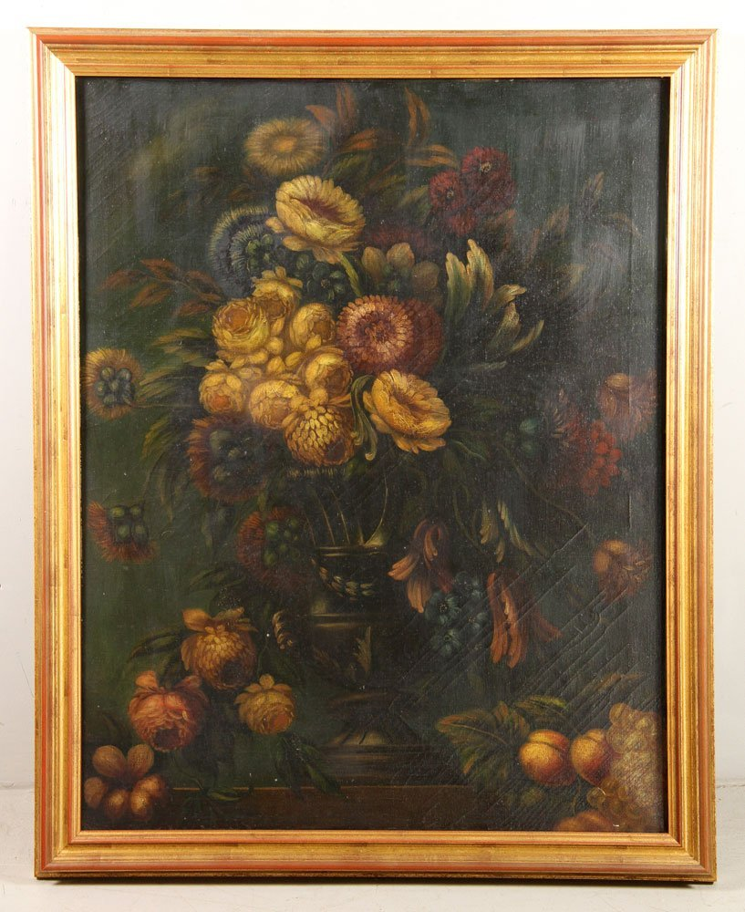 Floral Still Life, Oil on Canvas