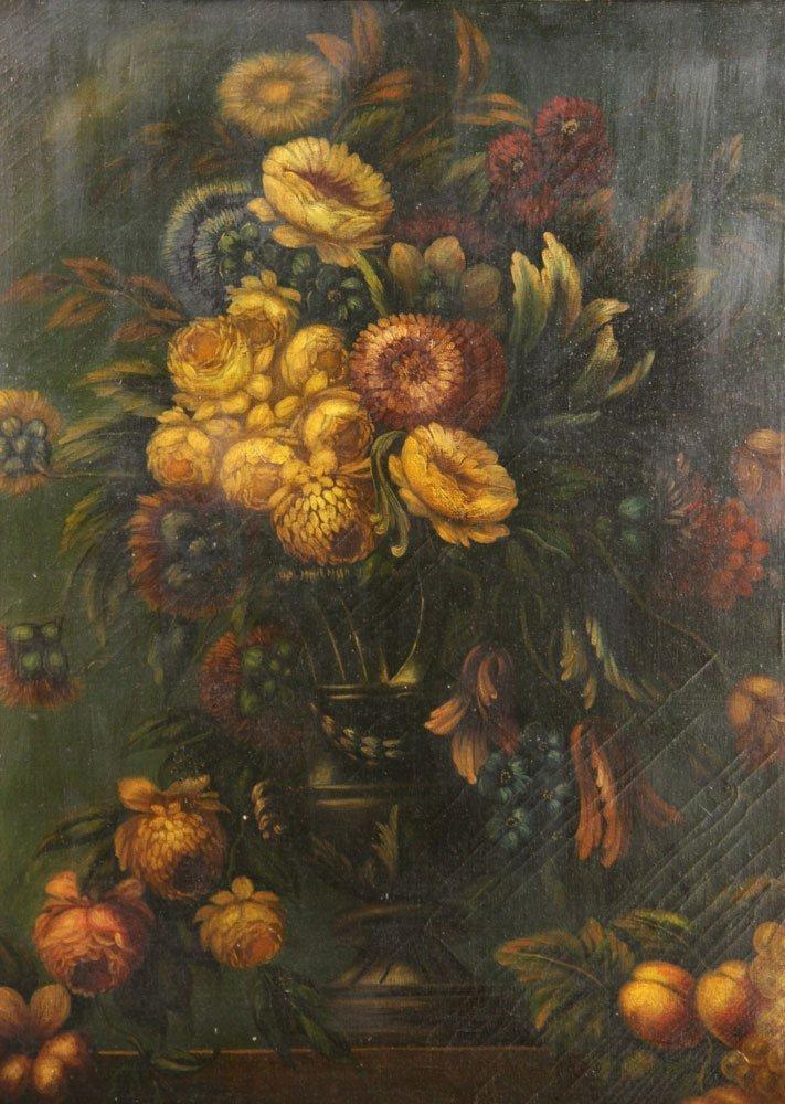 Floral Still Life, Oil on Canvas - 2