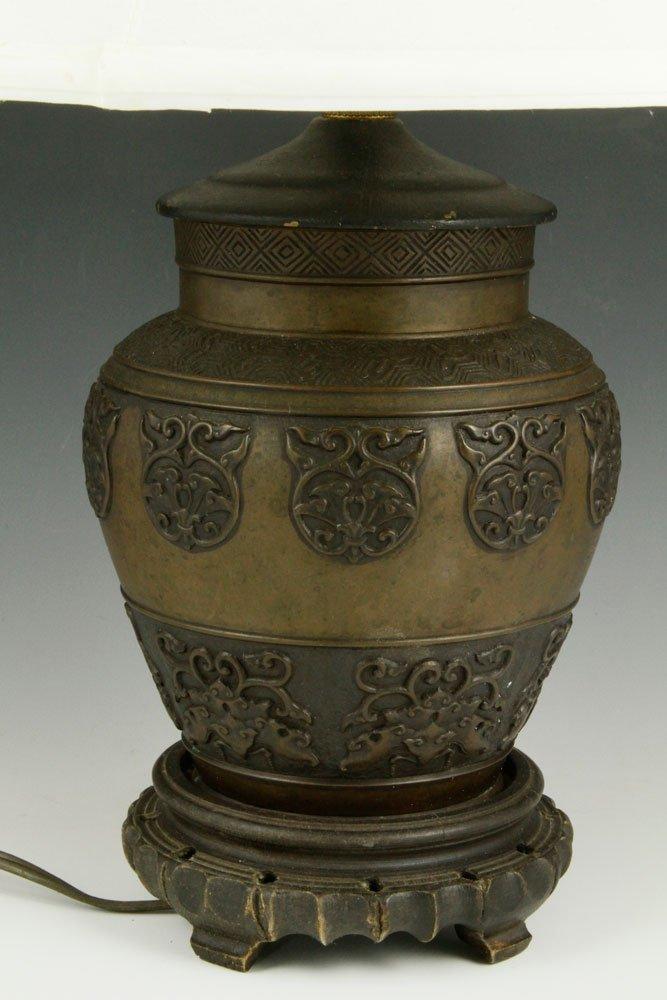 Chinese Bronze Lamp - 2