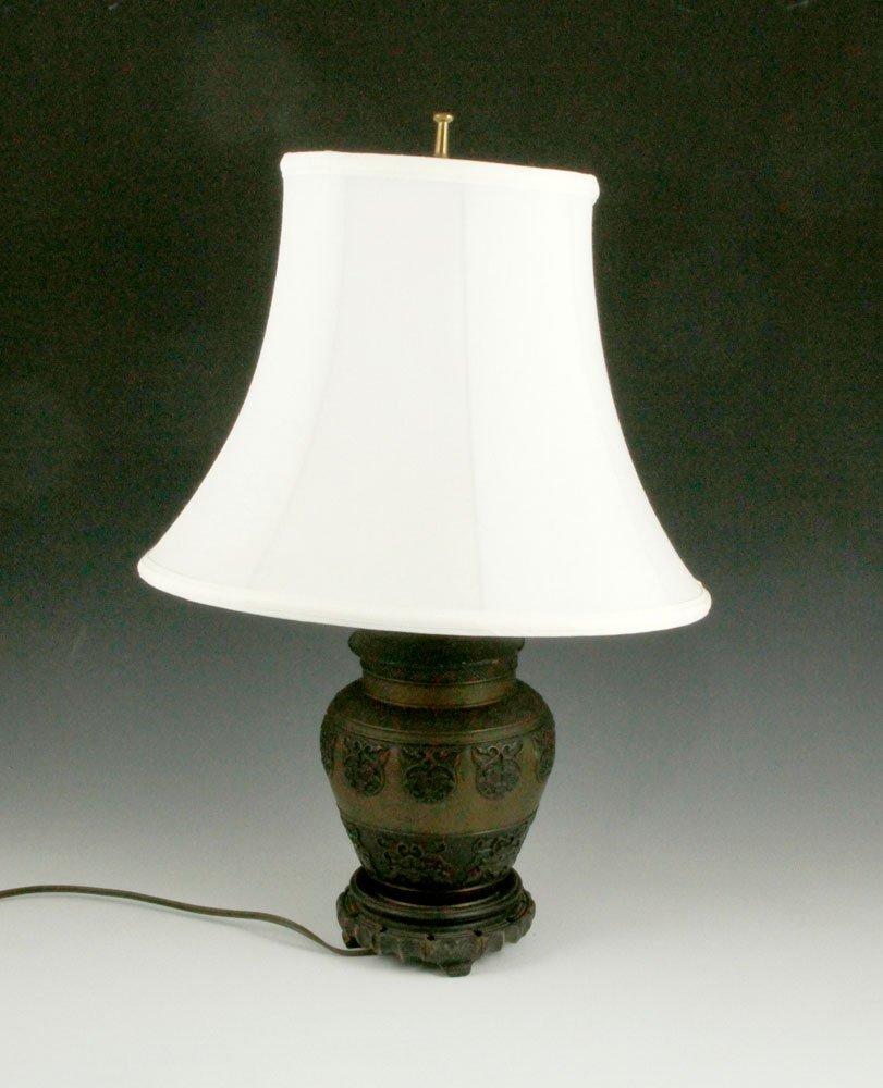 Chinese Bronze Lamp - 3