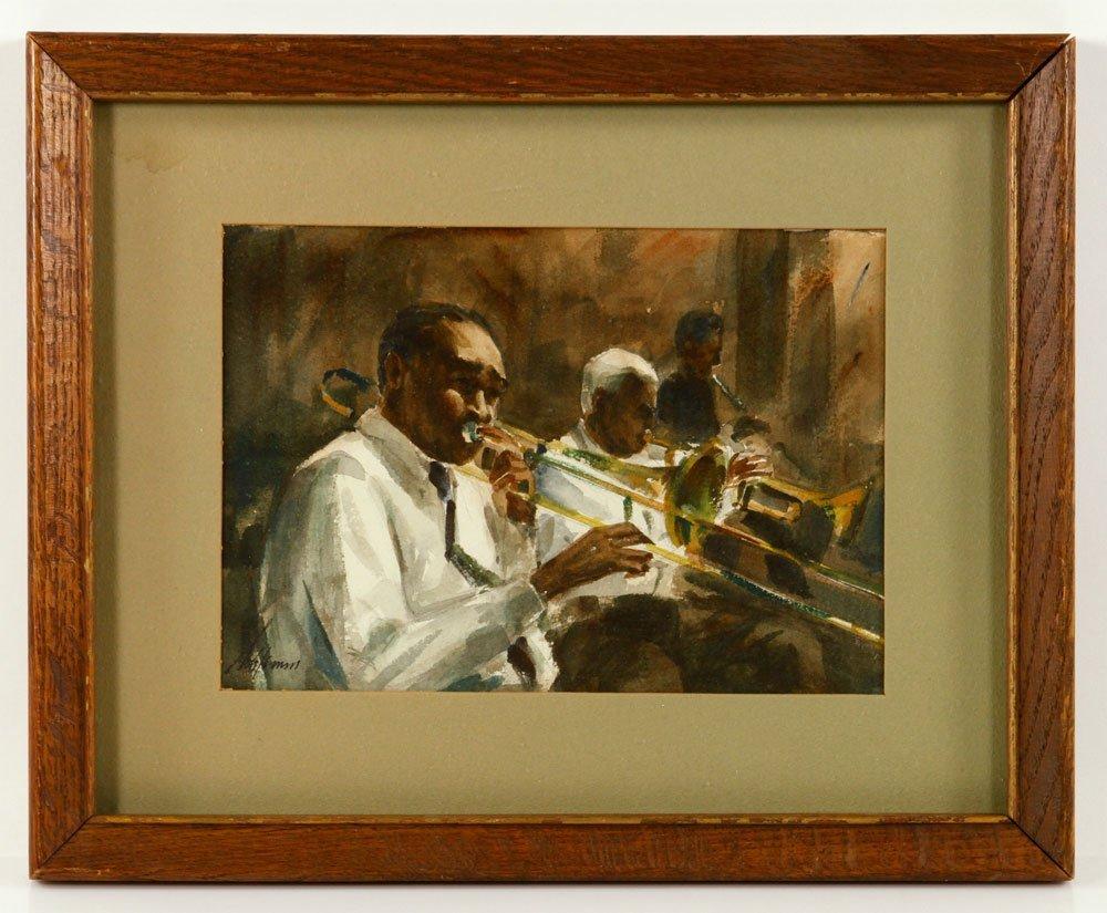 Schlemm, Trombonists, Watercolor