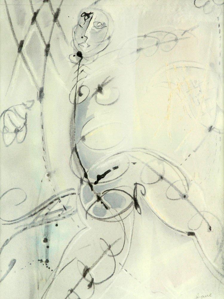 Rane, Abstract Figure, Oil on Canvas - 2