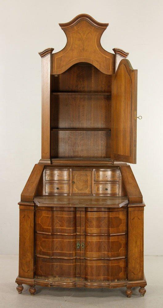 Inlaid Baker Secretary Desk - 2