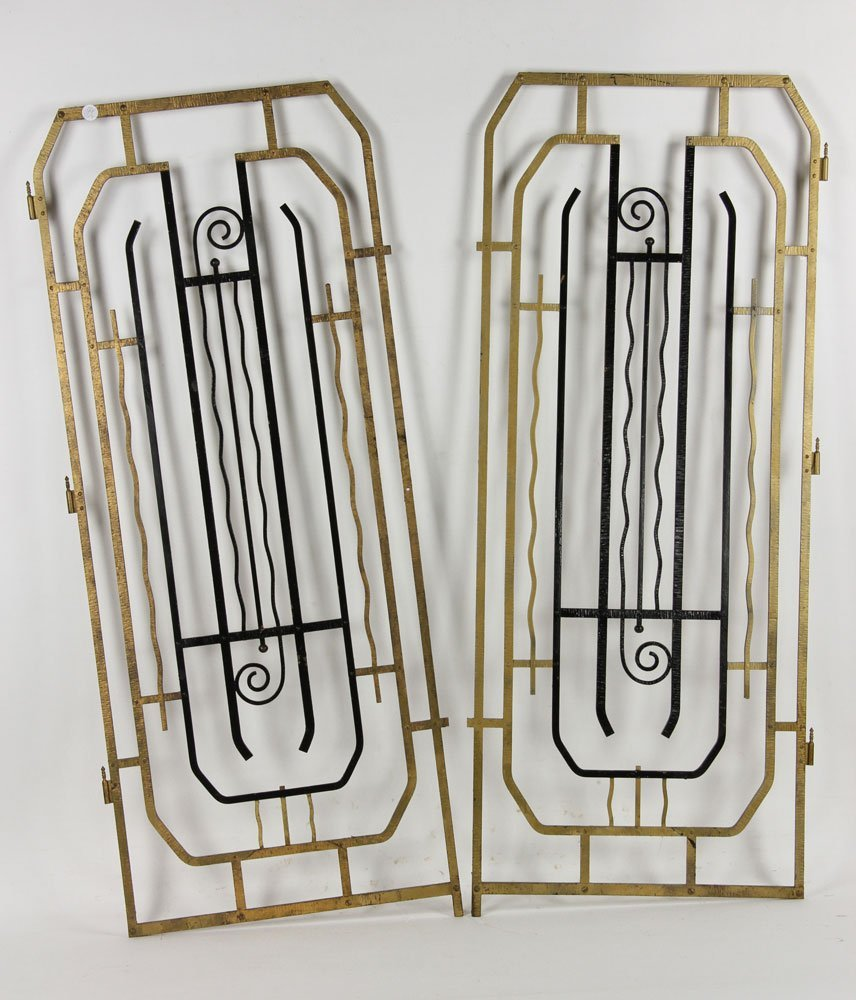 Pr. Art Deco Wrought Iron Gates