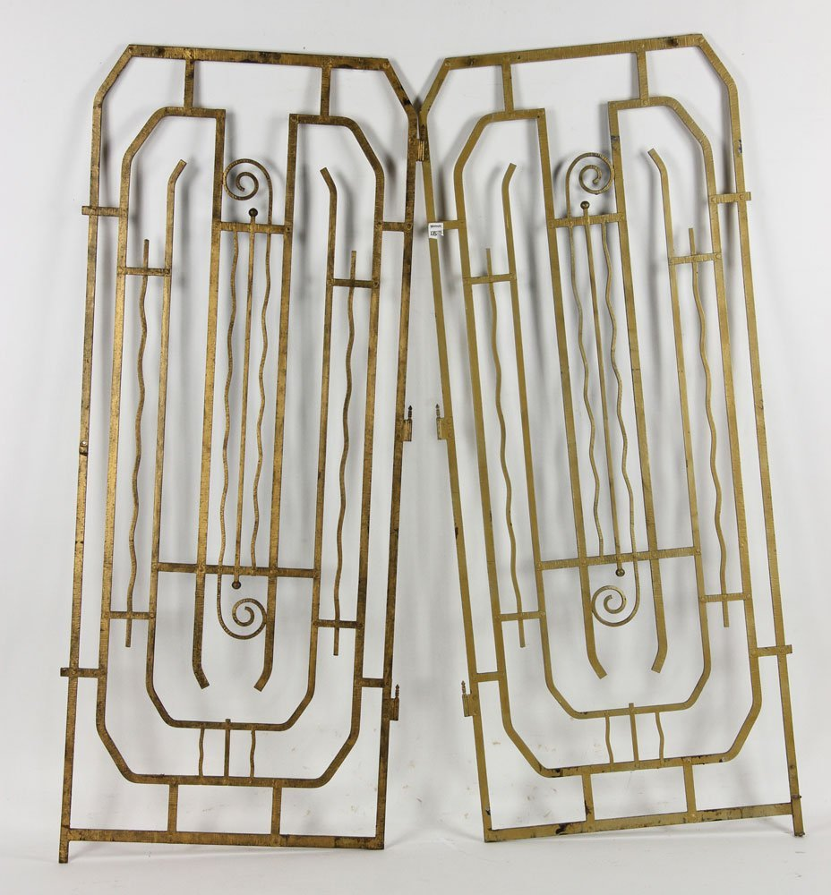 Pr. Art Deco Wrought Iron Gates - 2