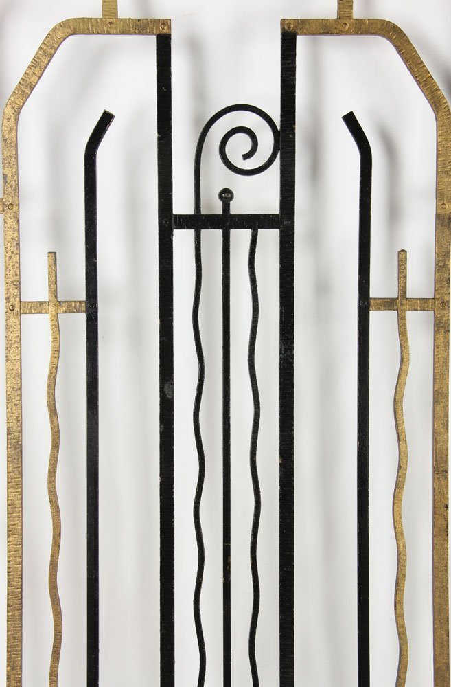 Pr. Art Deco Wrought Iron Gates - 3