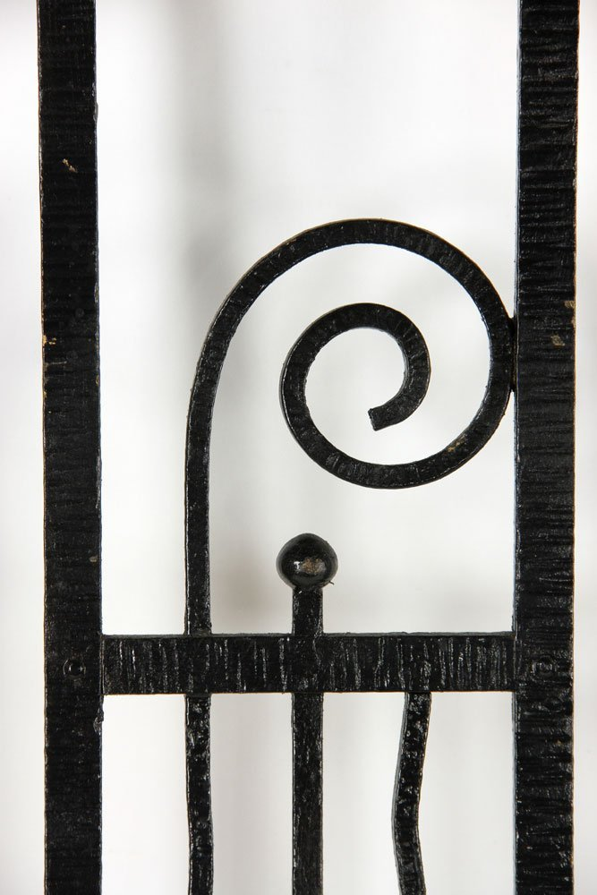 Pr. Art Deco Wrought Iron Gates - 6