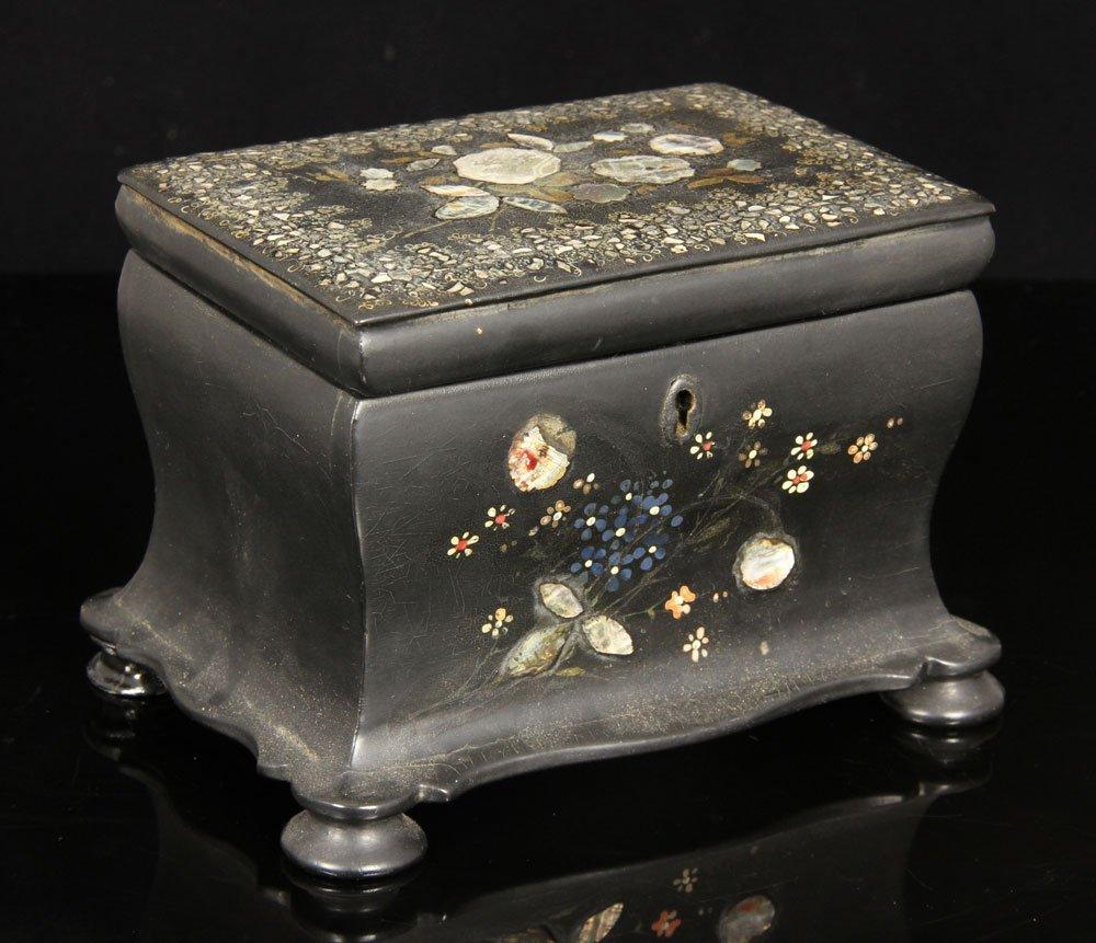 Tea Caddy and Bronze Roman Style Ewer - 2