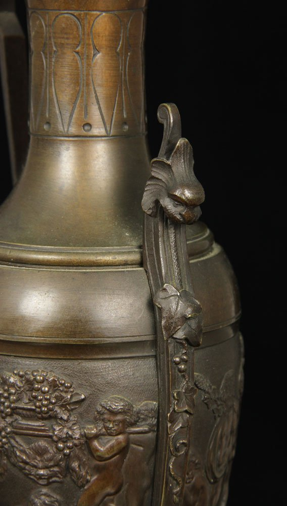 Tea Caddy and Bronze Roman Style Ewer - 8