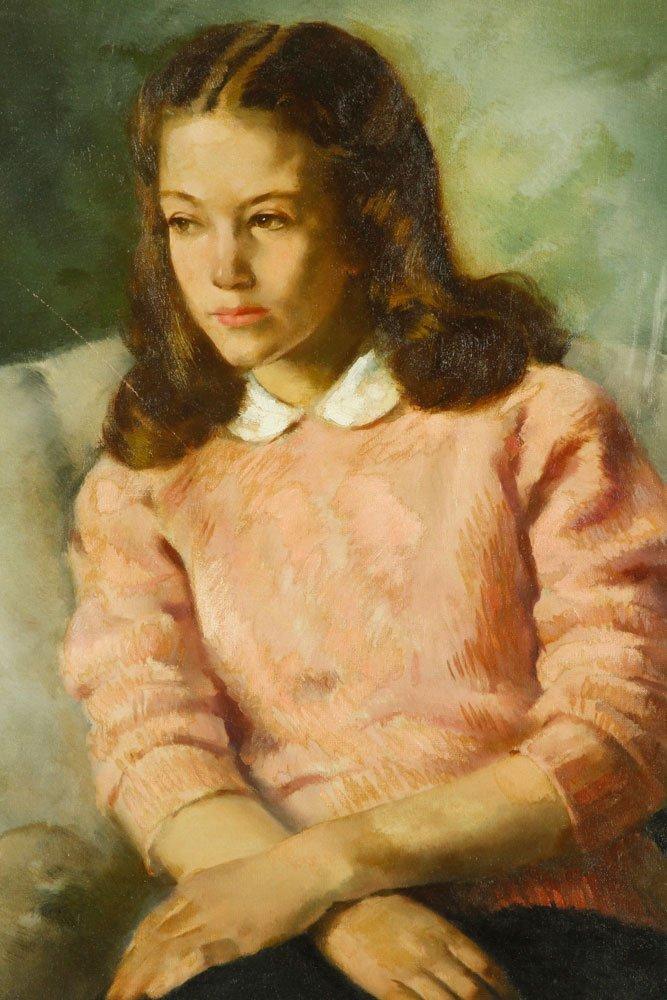 Walker, Portrait of Girl, Oil on Canvas - 2