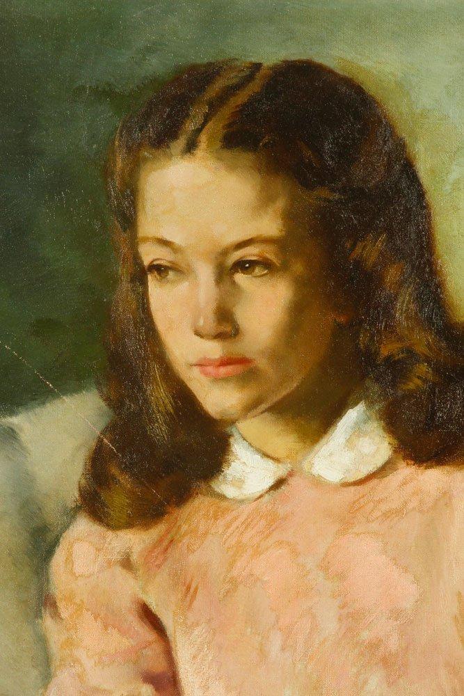 Walker, Portrait of Girl, Oil on Canvas - 3