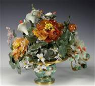 Chinese Cloisonne Floral Center Bowl