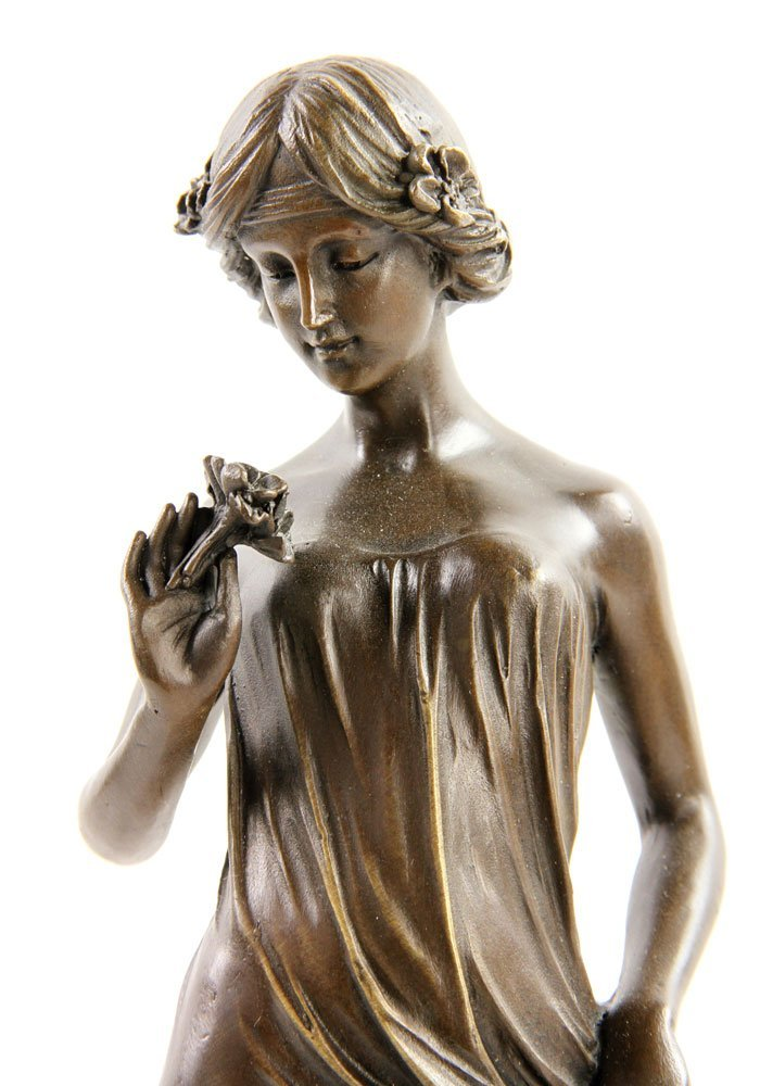Pittaluga (Italian, 20th C.), Classical Lady, Bronze - 3