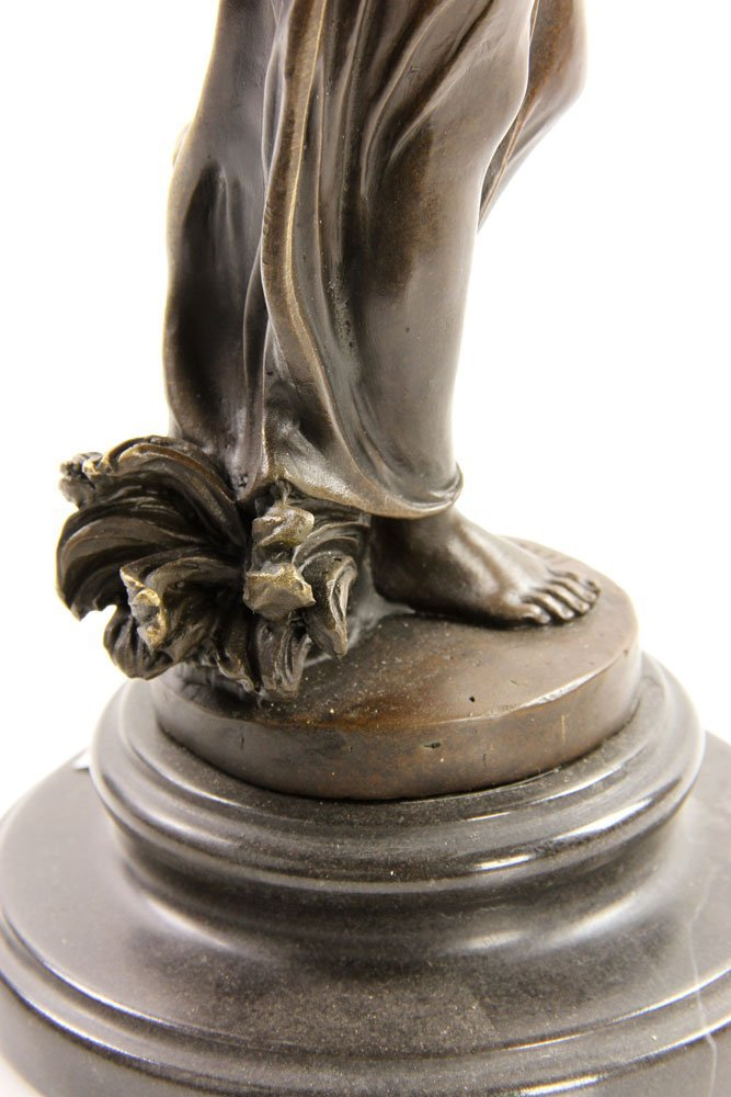Pittaluga (Italian, 20th C.), Classical Lady, Bronze - 4