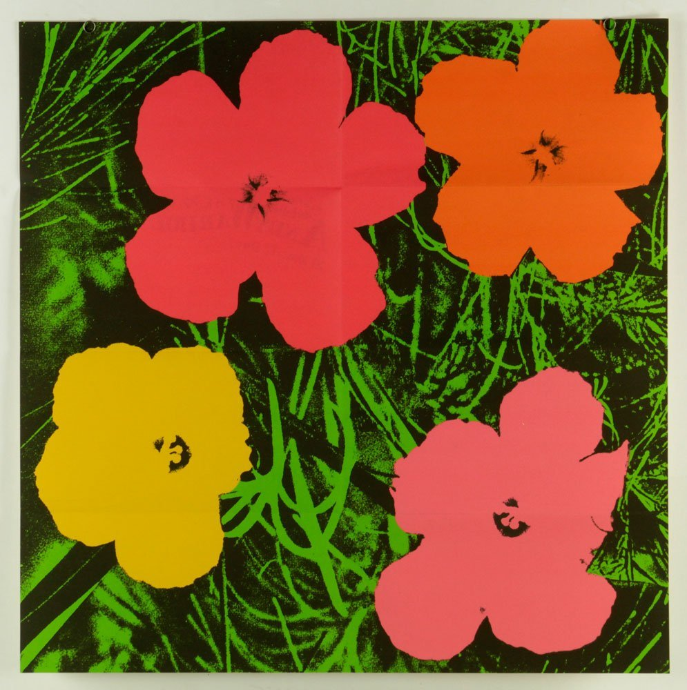 "Warhol ""Flowers"" Advertisement Lithograph"