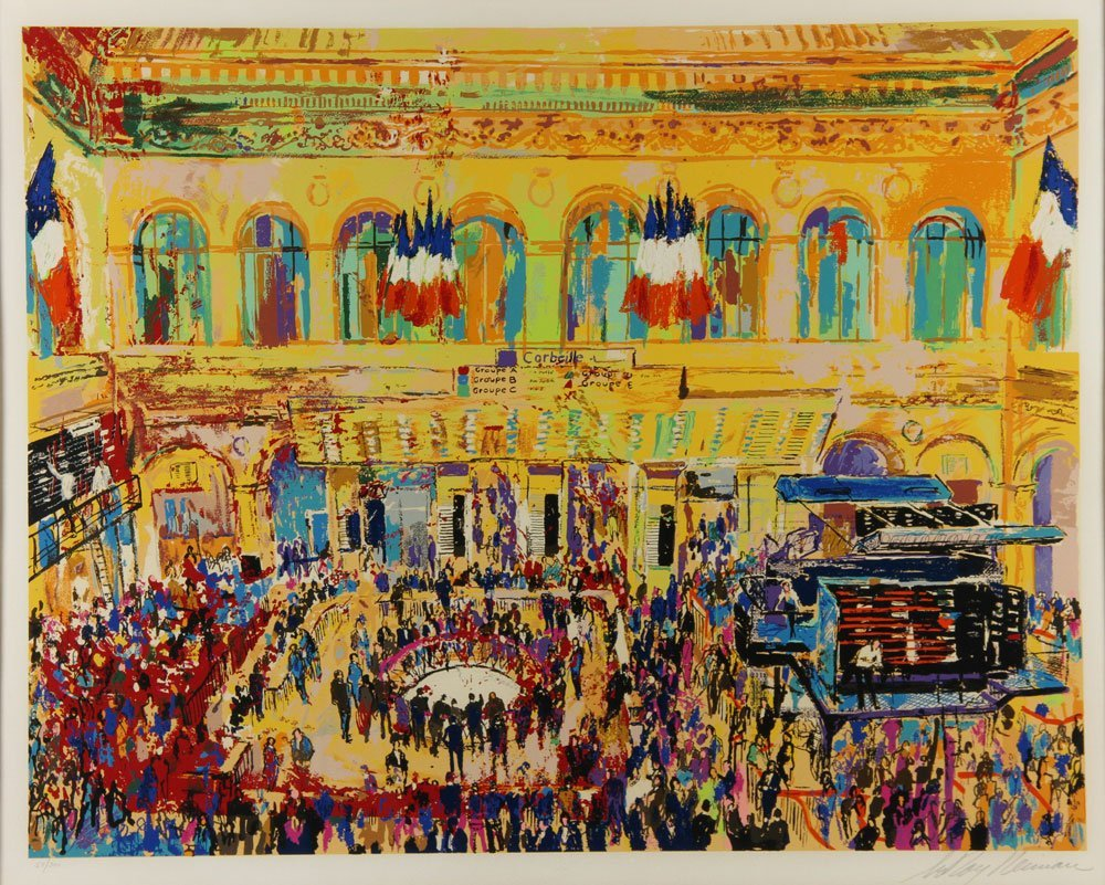Neiman, French Stock Exchange, Serigraph - 2