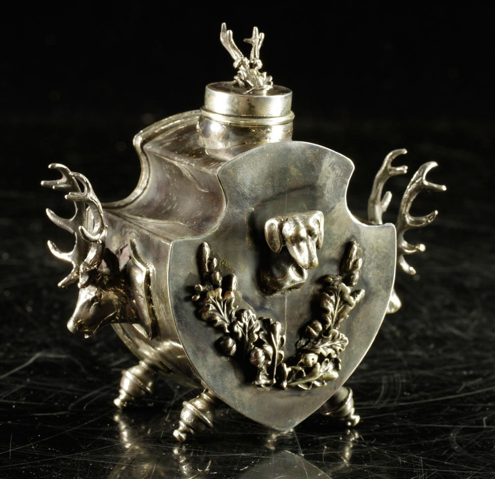 Russian Sterling Inkwell
