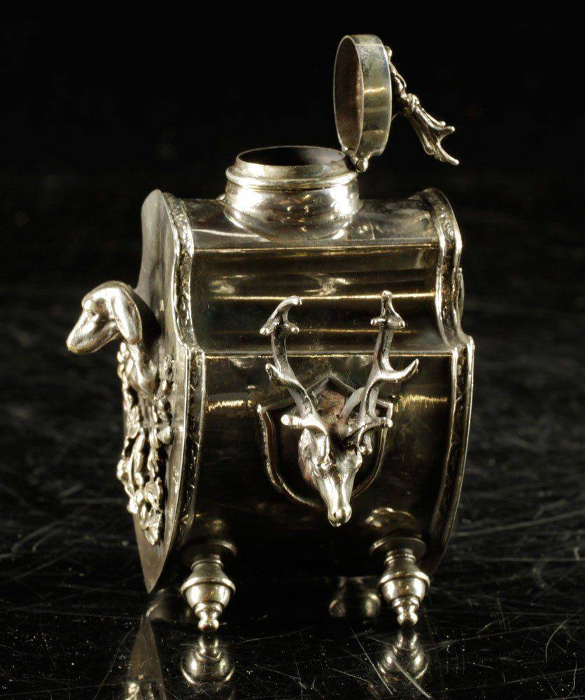 Russian Sterling Inkwell - 3