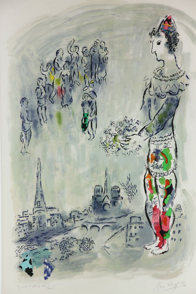 "Chagall, ""Magician of Paris,"" Artist Proof - 2"