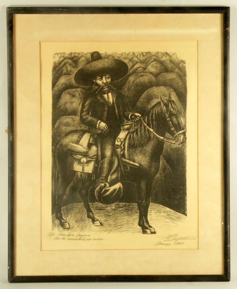 """Siqueiros, """"Zapata,"""" Artist Proof"""