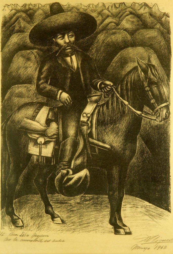 """Siqueiros, """"Zapata,"""" Artist Proof - 2"""