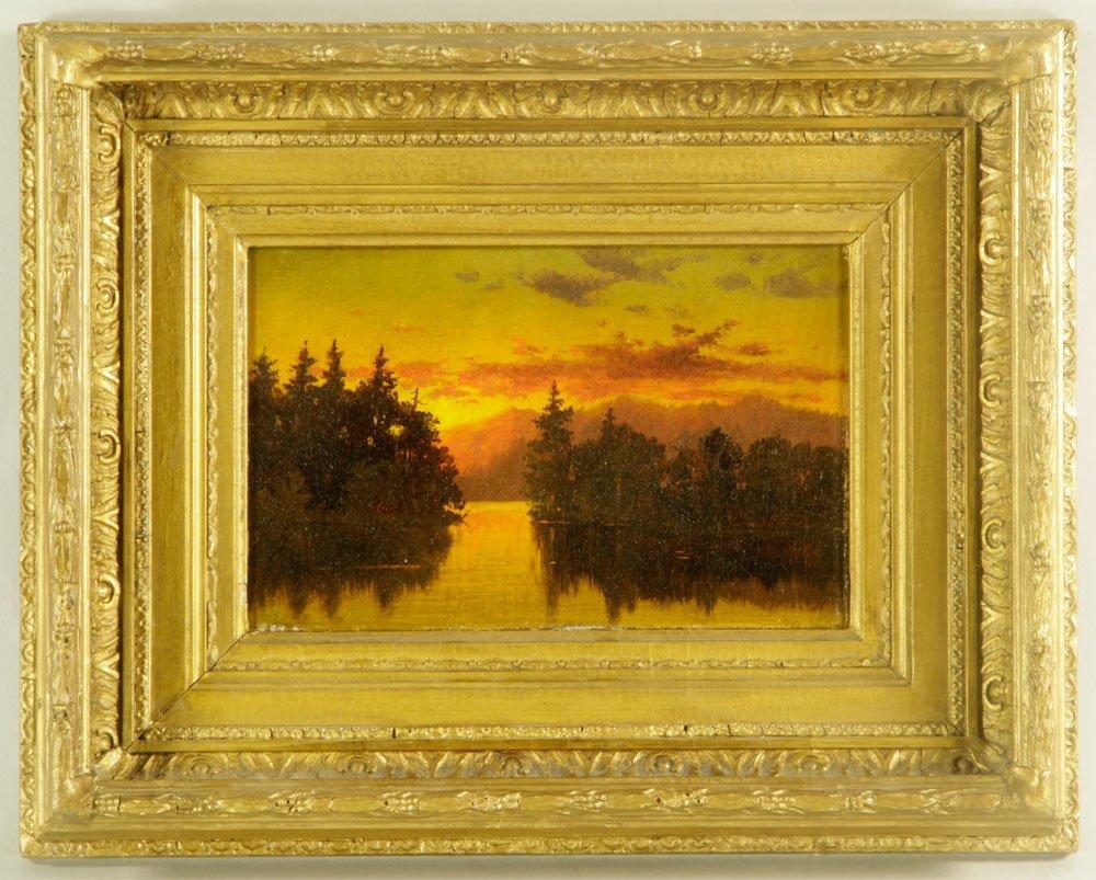 Blakelock, Sunset Landscape, Oil on Canvas