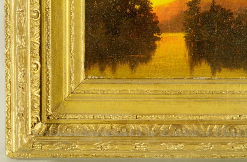 Blakelock, Sunset Landscape, Oil on Canvas - 2