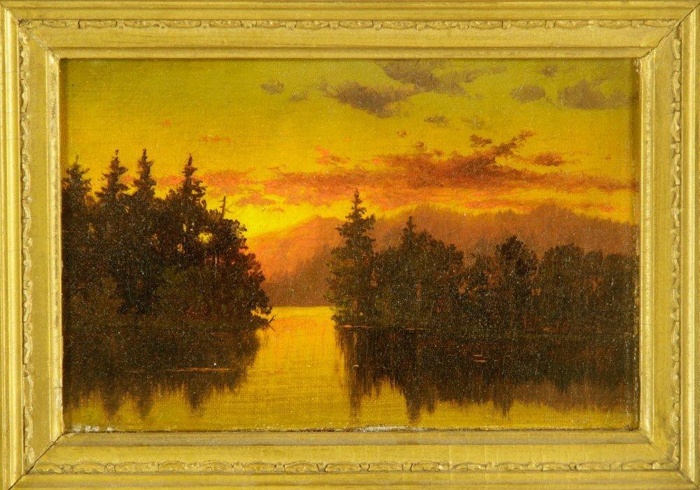 Blakelock, Sunset Landscape, Oil on Canvas - 3