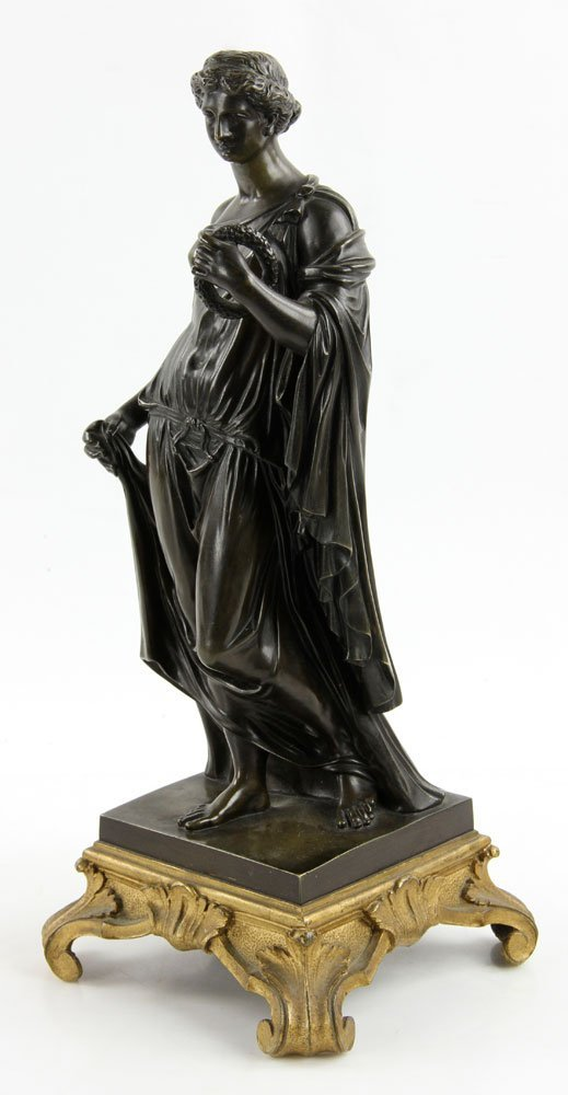 19th C. French Neoclassical Bronze - 2