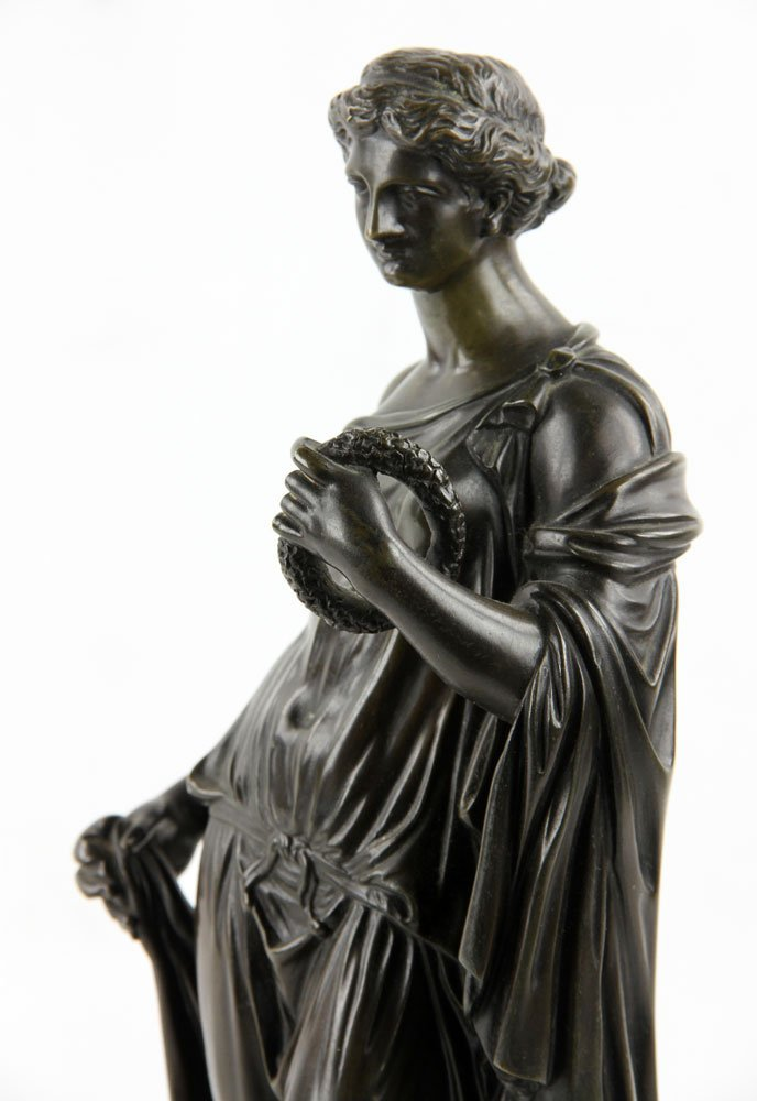 19th C. French Neoclassical Bronze - 7