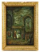 Castel Jewish Wedding Scene Oil on Canvas