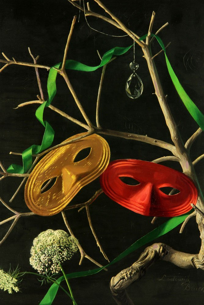 Bruckman, Two Masks, Oil on Canvas - 3