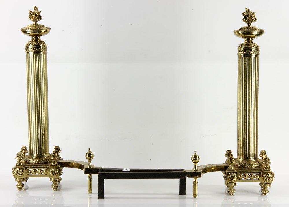Brass Andirons - 2
