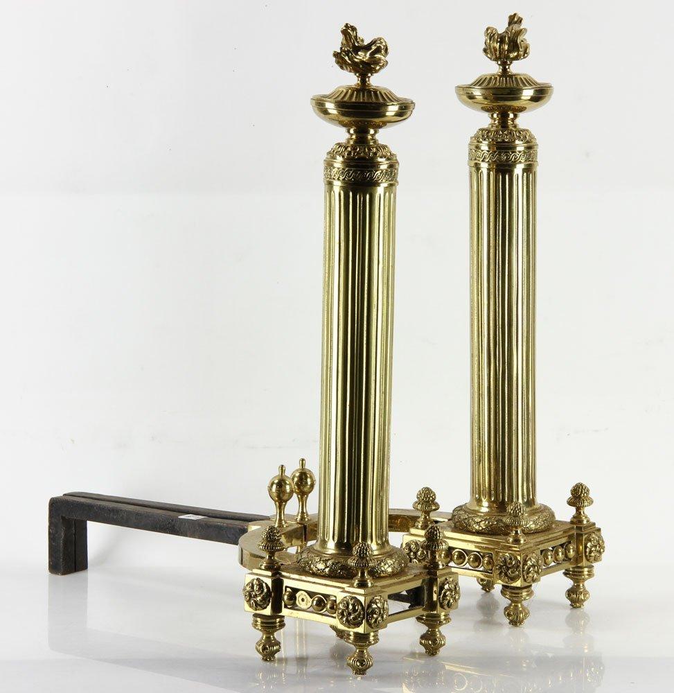 Brass Andirons - 3