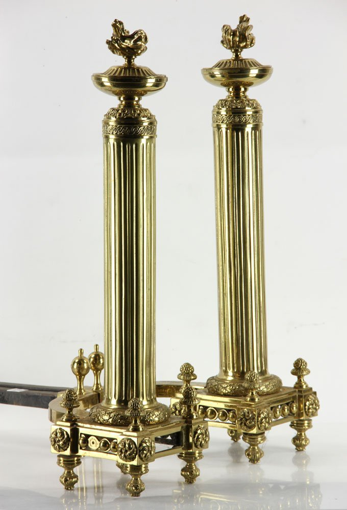 Brass Andirons - 4