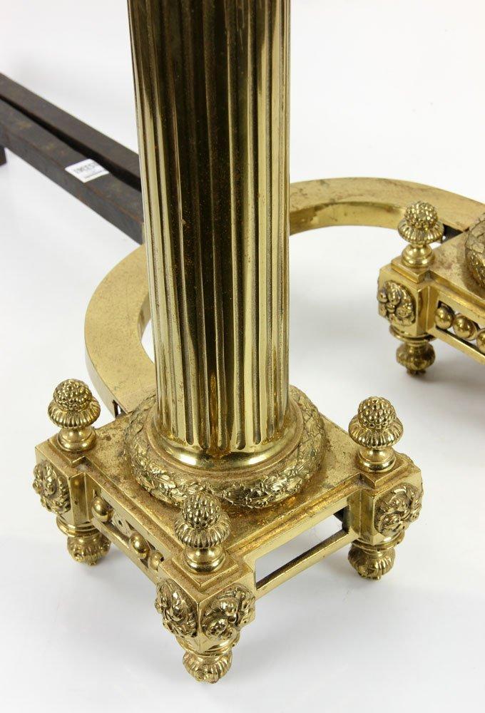 Brass Andirons - 6