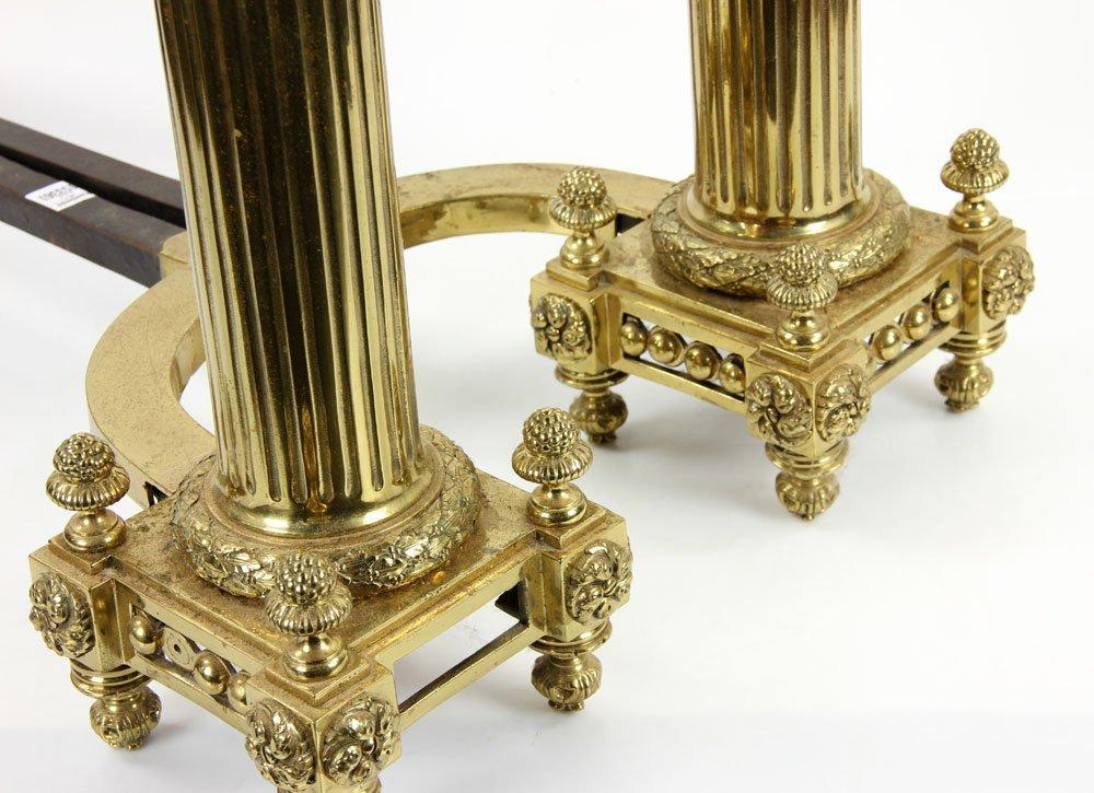 Brass Andirons - 7