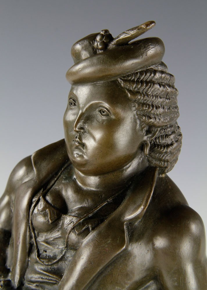 After Botero, Woman with Umbrella, Bronze - 4