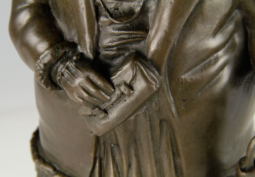 After Botero, Woman with Umbrella, Bronze - 5