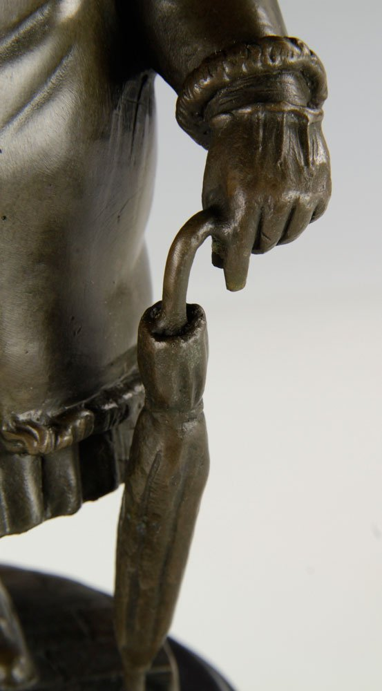 After Botero, Woman with Umbrella, Bronze - 6