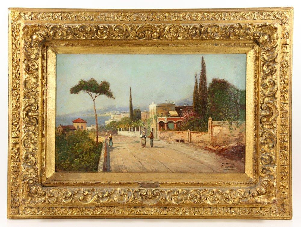 Toretti, View of The Capri Coast, Oil