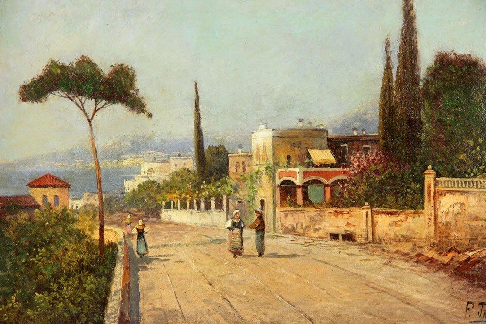 Toretti, View of The Capri Coast, Oil - 2