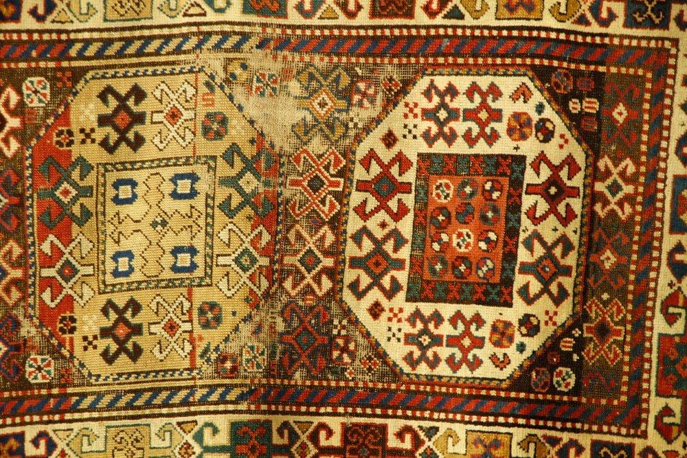 19th C. Caucasian Kazak Rug - 4