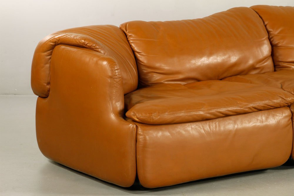 Alberto Rosselli for Saporiti Italia Leather Sofa - 2