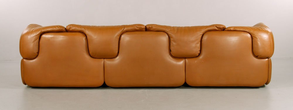 Alberto Rosselli for Saporiti Italia Leather Sofa - 4